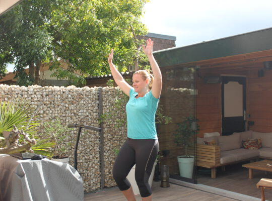 Trampoline springen en afvallen