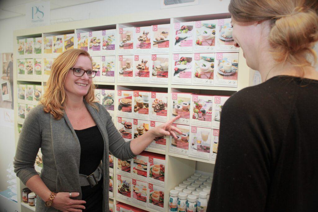Hier toon ik producten die je helpen bij het afvallen in mijn Powerslim Center in Laren.