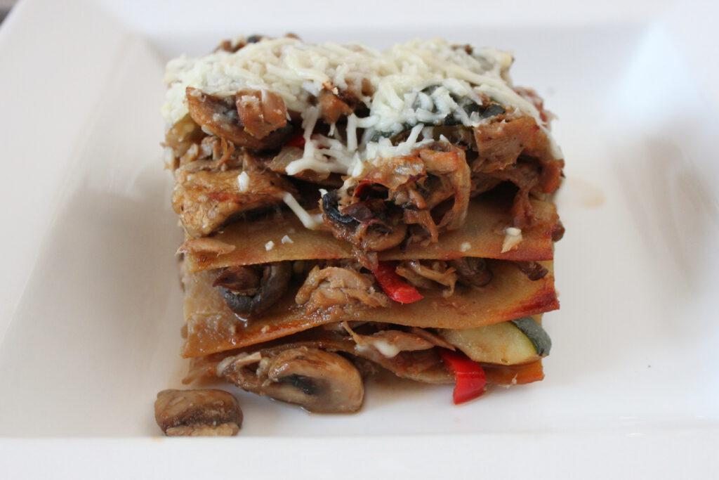 Stuk tonijn lasagne koolhydraatarm