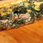 Quiche met zalm en spinazie