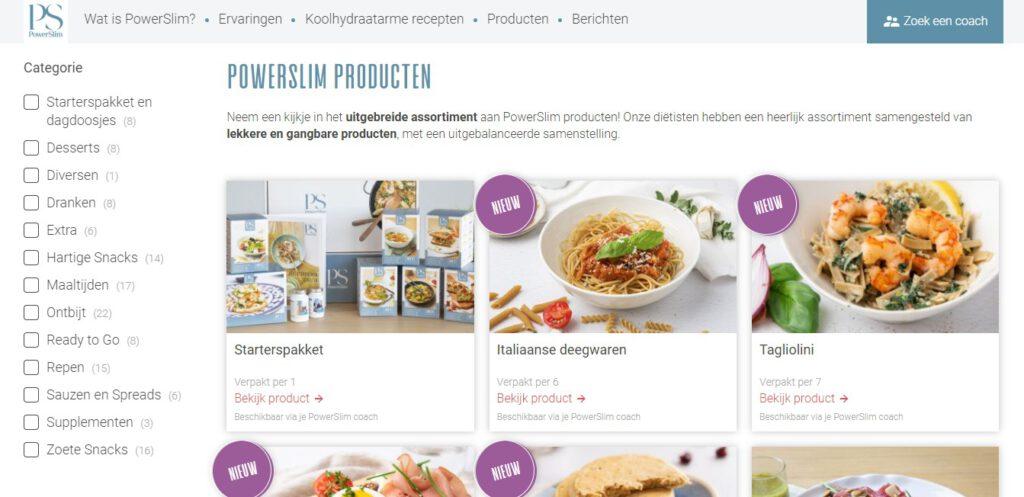Bestellen van PS Food & Lifestyle producten